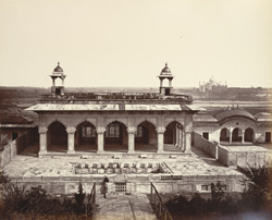 Pavilions in the Harem Court [Anguri Bagh, Agra Fort].